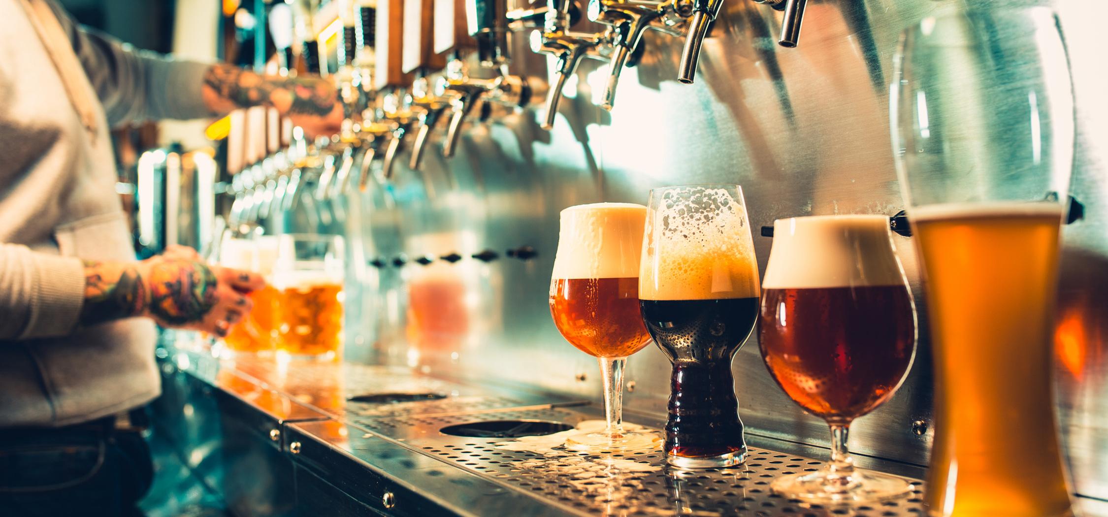 Brexit Beer Index - Beers being poured